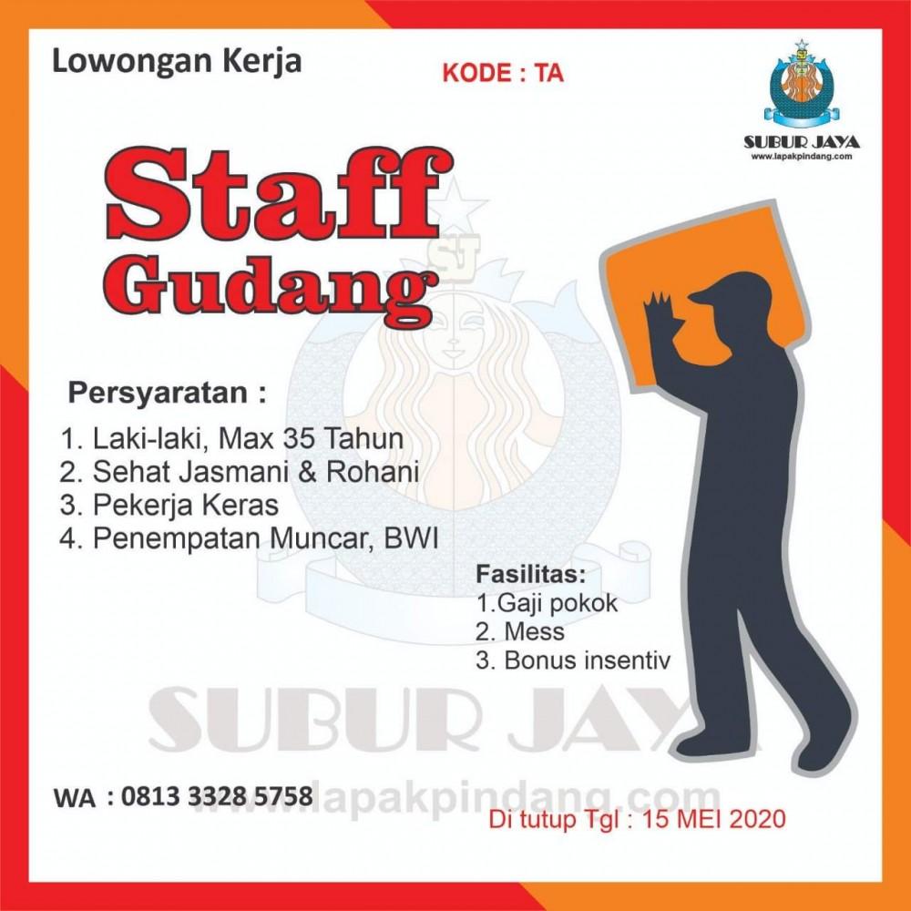 Agenda Lowongan Staff Gudang Job Placement Center Politeknik Negeri Banyuwangi