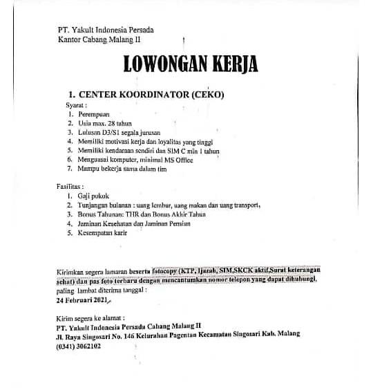 Agenda Center Koordinator Job Placement Center Politeknik Negeri Banyuwangi
